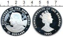 Изображение Монеты Багамские острова 10 долларов 1990 Серебро Proof