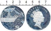 Изображение Монеты Токелау 5 тала 1994 Серебро Proof- Корабль