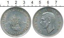 Изображение Монеты ЮАР 5 шиллингов 1952 Серебро UNC- 300-летие основания