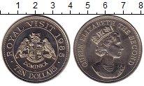 Изображение Монеты Северная Америка Доминиканская республика 10 долларов 1985 Медно-никель UNC-