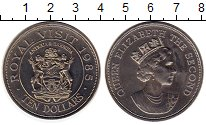 Изображение Монеты Антигуа и Барбуда 10 долларов 1985 Медно-никель UNC-
