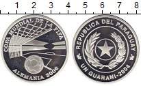 Изображение Монеты Южная Америка Парагвай 1 гуарани 2004 Серебро Proof-