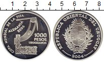 Изображение Монеты Уругвай 1000 песо 2004 Серебро Proof- Чемпионат Мира по фу