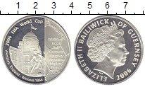 Изображение Монеты Гернси 5 фунтов 2006 Серебро Proof- Чемпионат Мира по фу