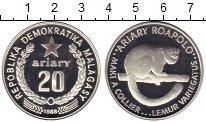 Изображение Монеты Африка Мадагаскар 20 ариари 1988 Серебро Proof