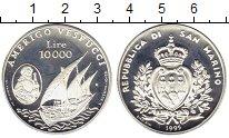Изображение Монеты Европа Сан-Марино 10000 лир 1995 Серебро Proof-