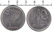 Изображение Монеты Бразилия 1 крузейро 1972 Медно-никель UNC- 150 лет Независимост