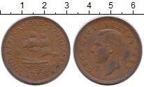 Изображение Монеты ЮАР 1 пенни 1952 Бронза XF
