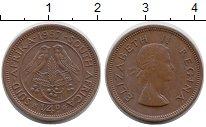 Изображение Монеты ЮАР 1/4 пенни 1957 Бронза XF