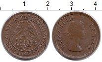 Изображение Монеты Африка ЮАР 1/4 пенни 1955 Бронза XF