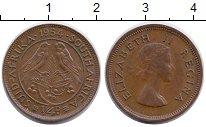 Изображение Монеты ЮАР 1/4 пенни 1954 Бронза XF