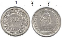 Изображение Монеты Европа Швейцария 1/2 франка 1956 Серебро UNC-