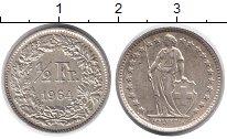 Изображение Монеты Европа Швейцария 1/2 франка 1964 Серебро XF