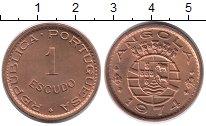 Изображение Монеты Ангола 1 эскудо 1974 Медь UNC-