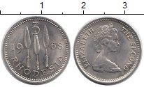 Изображение Монеты Родезия 3 пенса 1968 Медно-никель UNC- Елизавета II