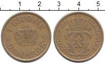 Изображение Монеты Дания 1 крона 1925 Латунь XF Кристиан Х