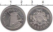 Изображение Монеты Северная Америка Барбадос 25 центов 1974 Медно-никель UNC-