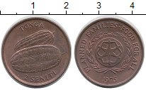 Изображение Монеты Австралия и Океания Тонга 2 сенити 1975 Бронза XF