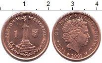 Изображение Монеты Великобритания Остров Мэн 1 пенни 2007 Бронза UNC-