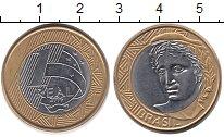 Изображение Монеты Южная Америка Бразилия 1 реал 2006 Биметалл UNC-
