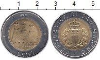 Изображение Монеты Сан-Марино 500 лир 1987 Биметалл UNC-