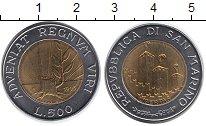Изображение Монеты Европа Сан-Марино 500 лир 1993 Биметалл UNC-