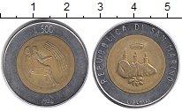Изображение Монеты Европа Сан-Марино 500 лир 1986 Биметалл UNC-
