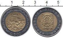Изображение Монеты Сан-Марино 500 лир 1988 Биметалл UNC- Замок