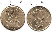 Изображение Монеты Сан-Марино 200 лир 1995 Латунь UNC- ФАО