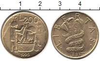 Изображение Монеты Европа Сан-Марино 200 лир 1995 Латунь UNC-