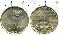 Изображение Монеты Аргентина 100 песо 1977 Латунь UNC-