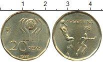 Изображение Монеты Аргентина 20 песо 1977 Латунь UNC-