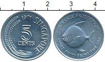 Изображение Монеты Азия Сингапур 5 центов 1971 Алюминий UNC-