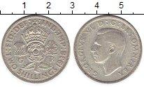 Изображение Монеты Великобритания 2 шиллинга 1938 Серебро XF Георг VI