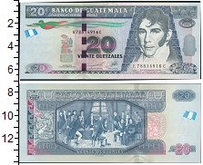 Изображение Банкноты Гватемала 20 куэталь 2012  UNC