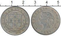Изображение Монеты Северная Америка Ямайка 1/2 пенни 1889 Медно-никель XF-