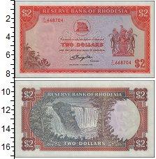 Изображение Банкноты Великобритания Родезия 2 долларов 1976  UNC