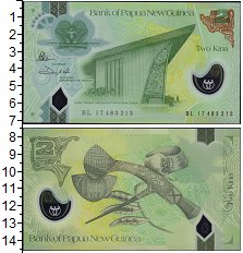 Изображение Банкноты Австралия и Океания Папуа-Новая Гвинея 2 кина 2017 Пластик UNC