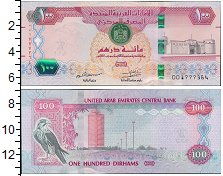 Изображение Банкноты Азия ОАЭ 100 дирхам 2018  UNC