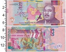 Изображение Банкноты Багамские острова 20 долларов 2018  UNC Сэр Майло Боутон Бат