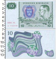 Изображение Банкноты Швеция 10 крон 1990  UNC