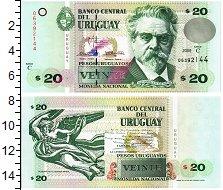 Изображение Банкноты Уругвай 20 песо 2000  UNC Хуан Зоррилья де Сан