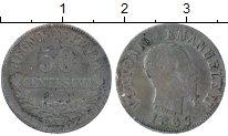 Изображение Монеты Европа Италия 50 сентесим 1867 Серебро XF-
