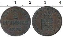 Изображение Монеты Германия Саксе-Мейнинген 2 пфеннига 1870 Медь XF