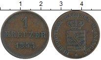 Изображение Монеты Саксе-Мейнинген 1 крейцер 1854 Медь VF