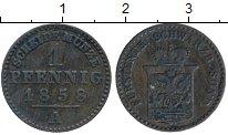 Изображение Монеты Германия Шварцбург-Зондерхаузен 1 пфенниг 1858 Медь VF