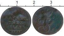 Изображение Монеты Германия Бавария 1 геллер 1782 Медь VF