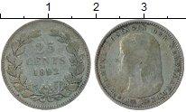 Изображение Монеты Европа Нидерланды 25 центов 1892 Серебро VF