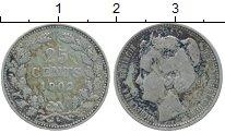 Изображение Монеты Нидерланды 25 центов 1902 Серебро VF