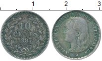 Изображение Монеты Нидерланды 10 центов 1897 Серебро XF-